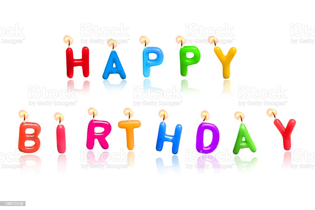 Happy Birthday Candles royalty-free stock photo