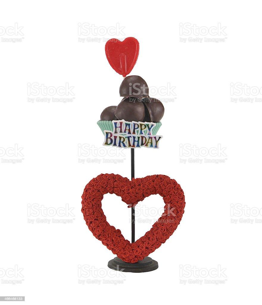 Buon Compleanno Al Cioccolato A Forma Di Cuore Rosa Rossa Bonbons