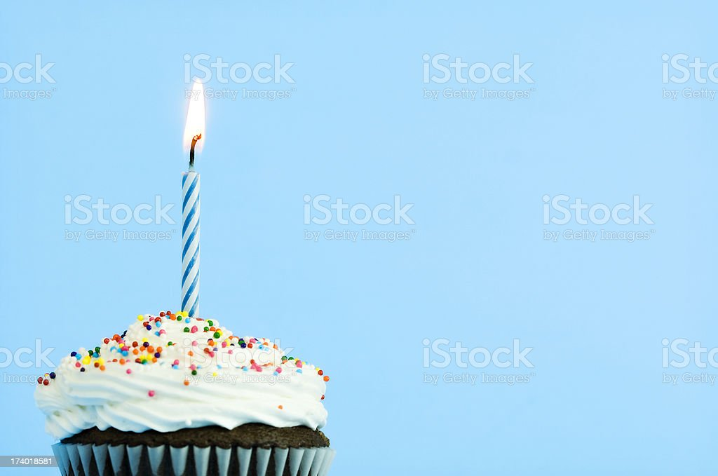 Happy Birthday Cupcake stock photo