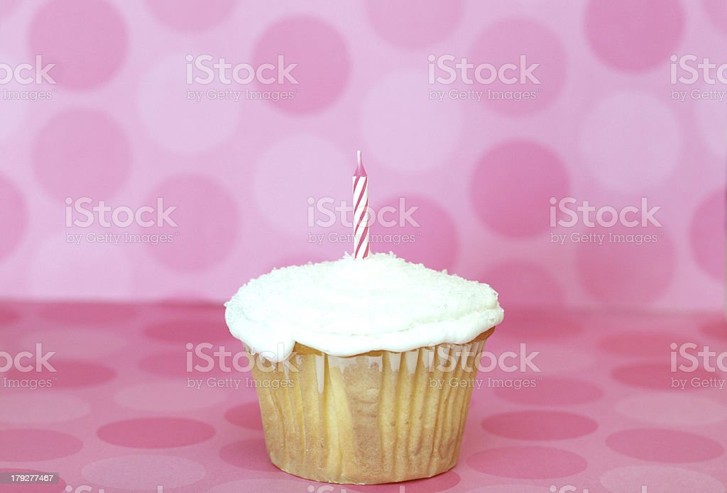 happy birthday cupcake! royalty-free stock photo