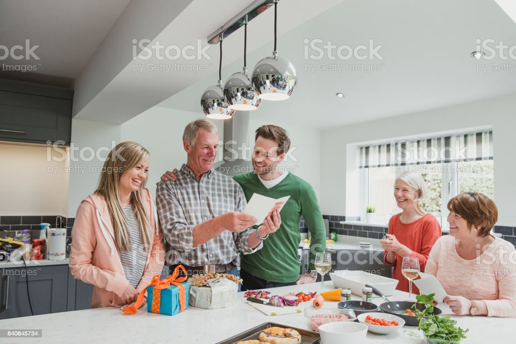 Happy Birthday, Dad! stock photo