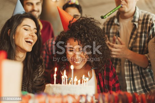 istock Happy birthday dear friend concept 1135930584
