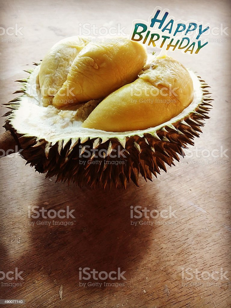 Swell Happy Birthday Funny Cake Durian Stock Photo Download Image Now Funny Birthday Cards Online Hendilapandamsfinfo