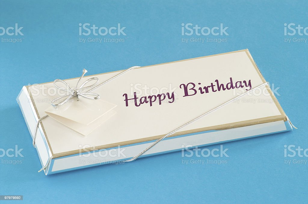 Happy birthday gift royalty-free stock photo