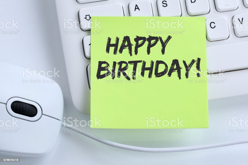 Happy Birthday Greetings Celebration Business Concept Mouse Royalty Free Stock Photo