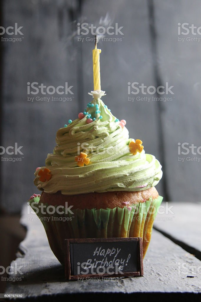 happy birthday handwritten stock photo