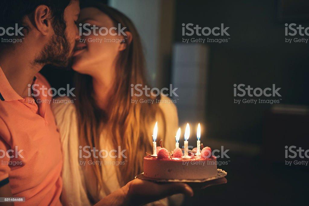 Happy birthday honey! stock photo