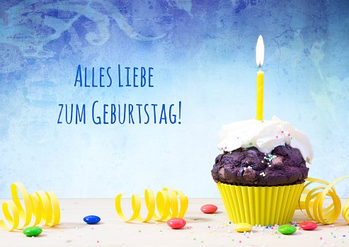 Happy Birthday In German Language Stock Photo - Download Image Now - iStock