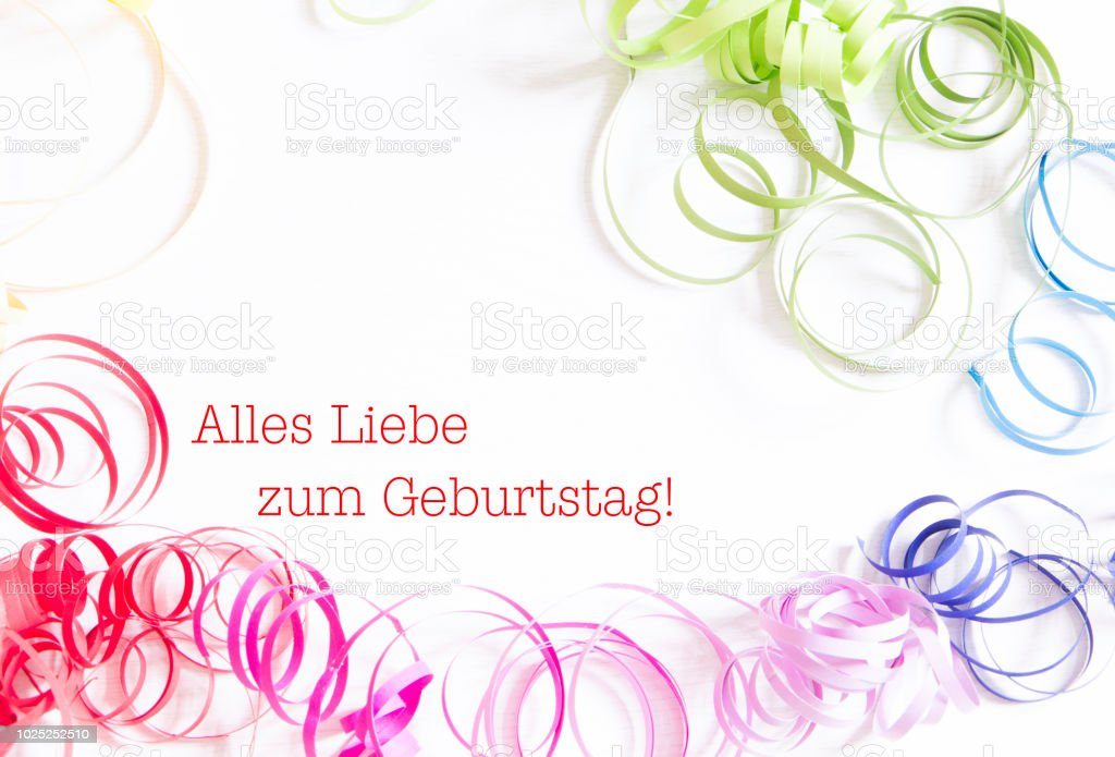 Happy Birthday In German Language Stock Photo More Pictures Of