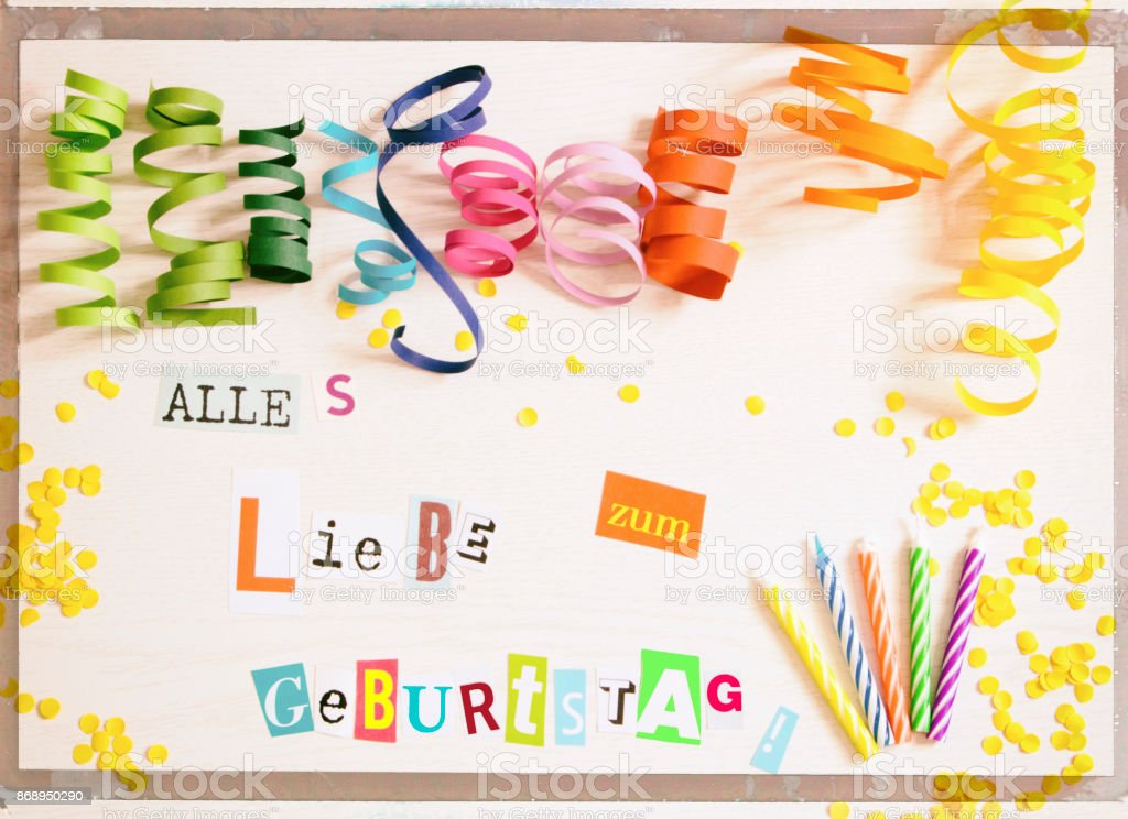 happy birthday in german language stock photo