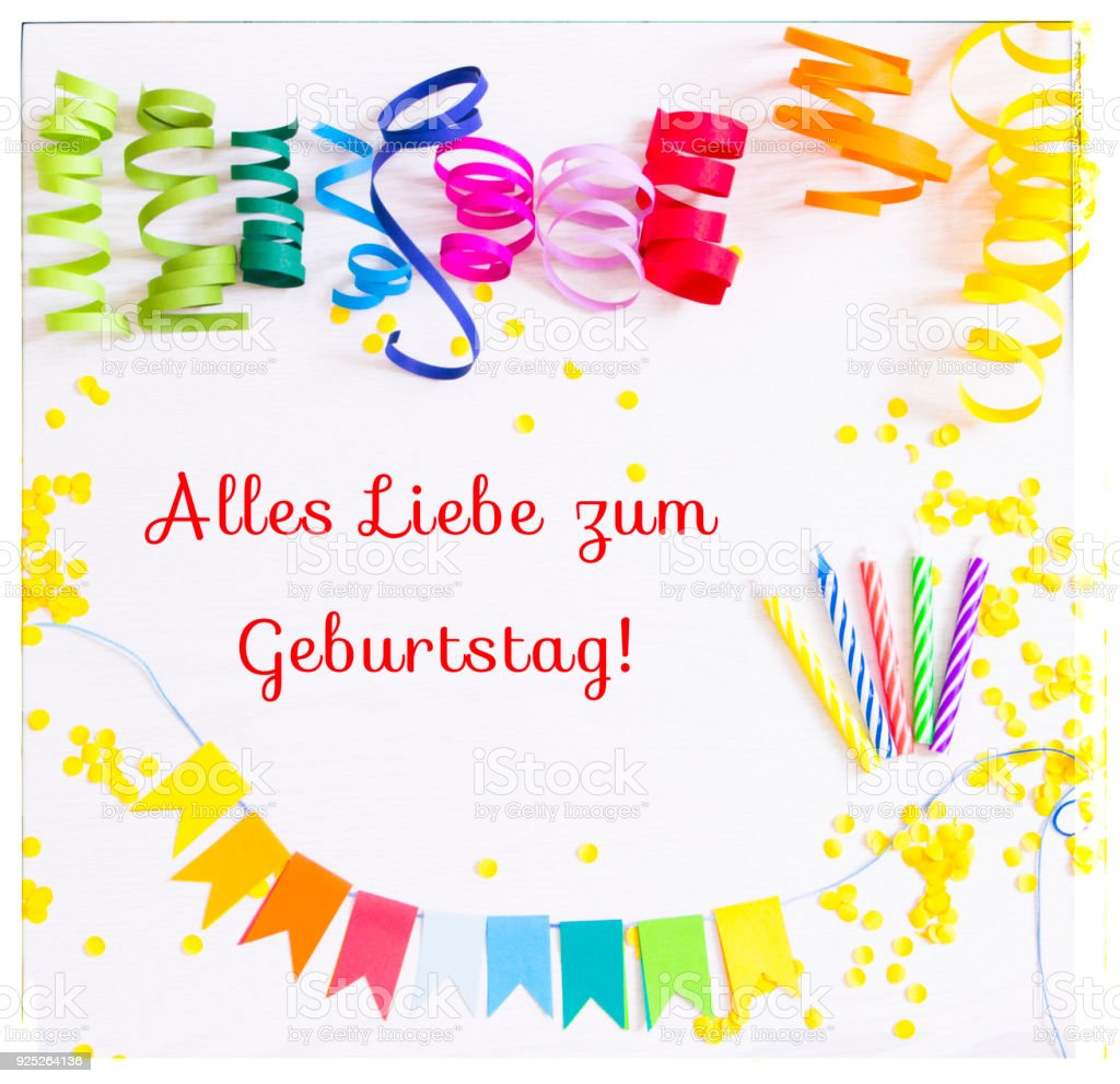 happy birthday in german language royalty free stock photo