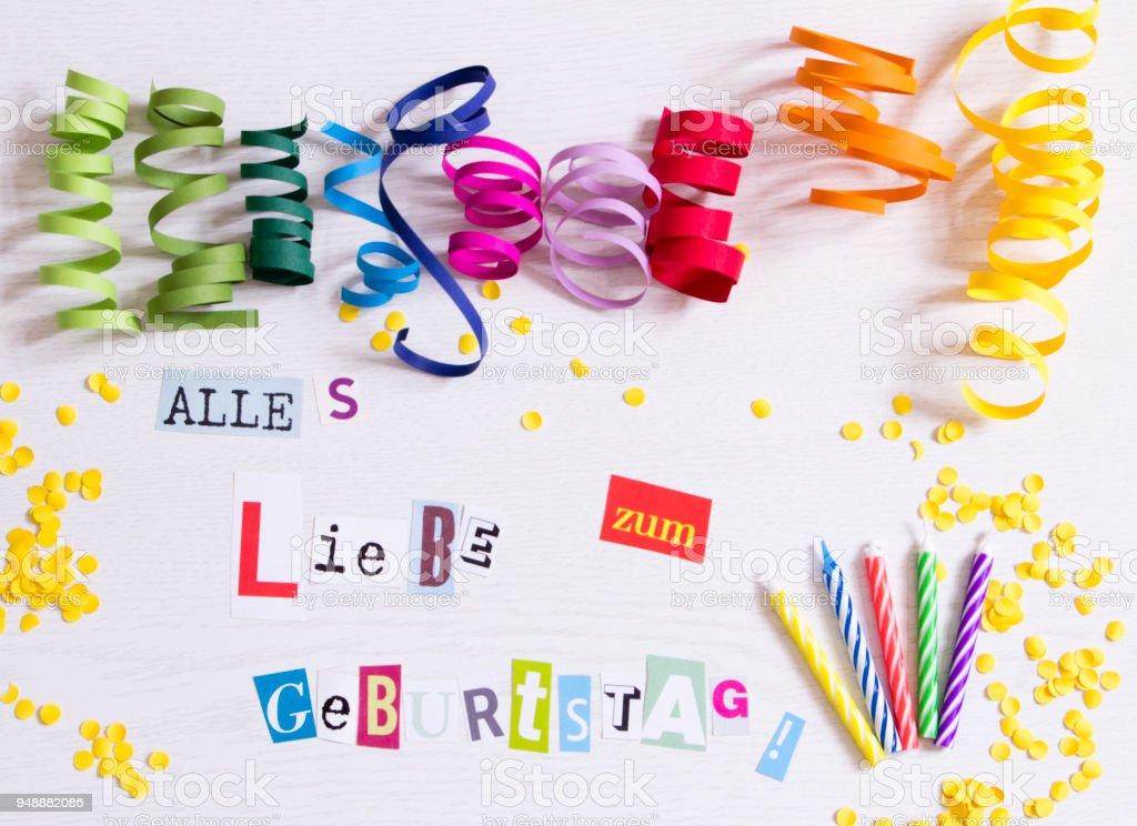 happy birthday in german language royalty free stock photo