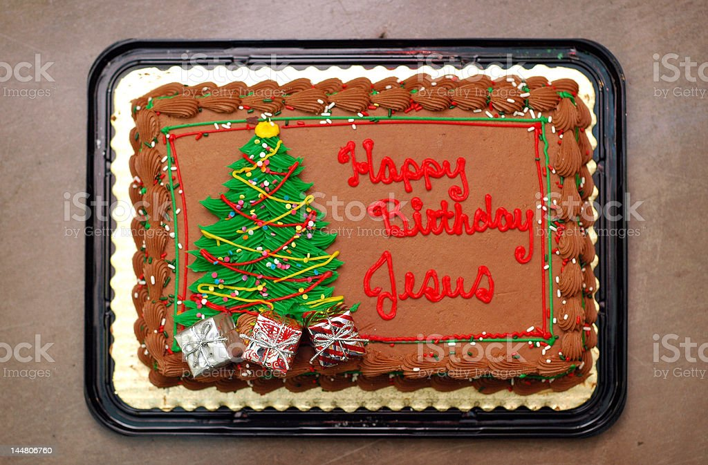 Pleasant Happy Birthday Jesus Cake Stock Photo Download Image Now Istock Funny Birthday Cards Online Overcheapnameinfo