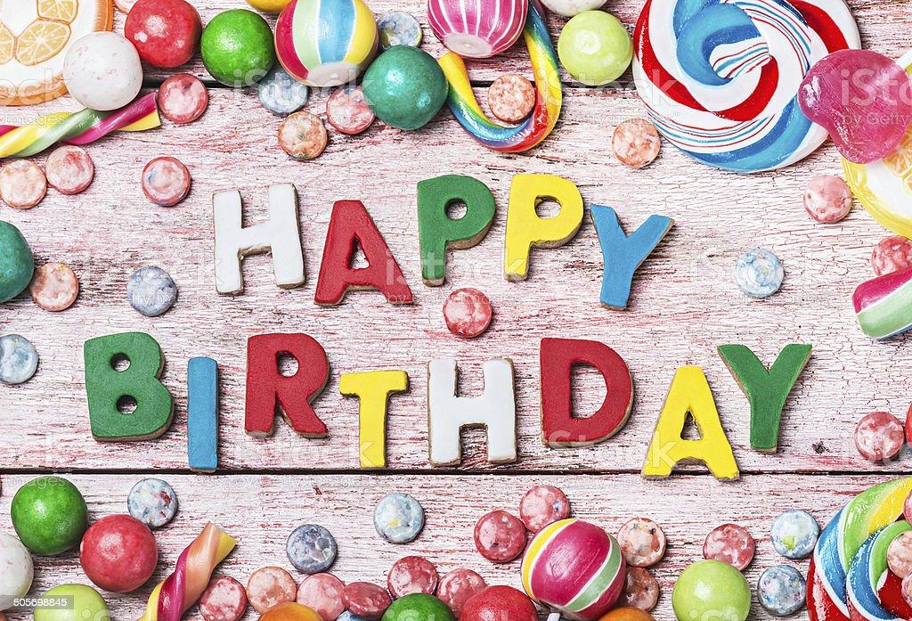 Buon Compleanno Lettere Da Biscotti E Dolci Fotografie Stock E