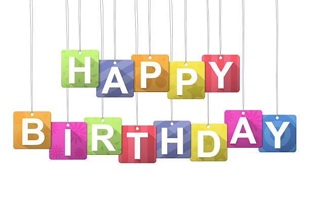 Happy birthday message stock photo