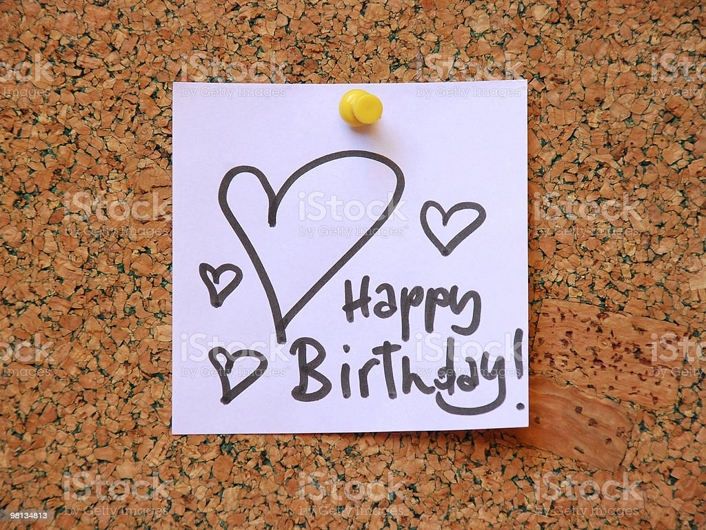 happy birthday message royalty-free stock photo