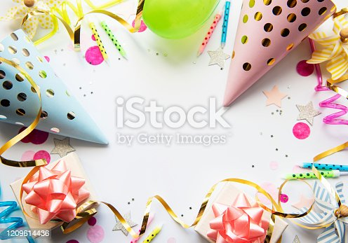 950793576 istock photo Happy birthday or party background 1209614436