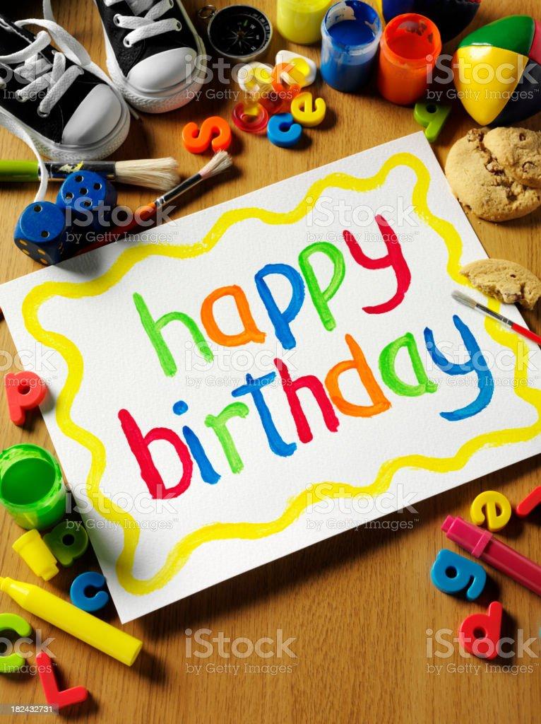 Happy Birthday Painting royalty-free stock photo