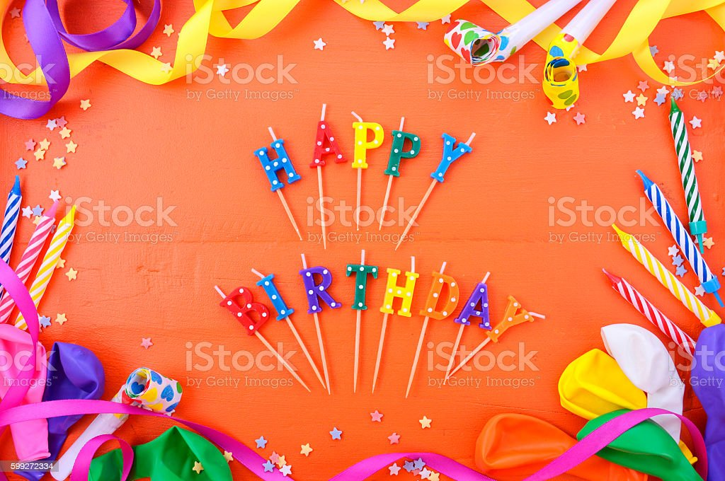 Happy Birthday Party Decorations Background Lizenzfreies Stock Foto