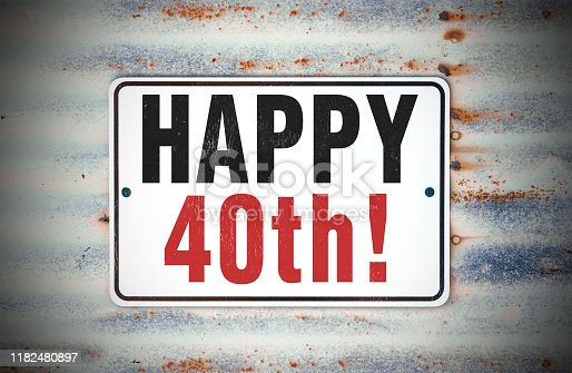 Happy 40th Birthday Sign