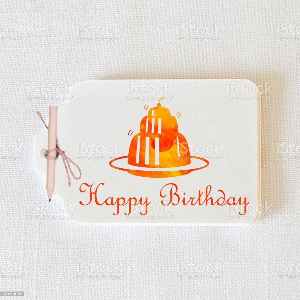 Happy Birthday Tag stock photo