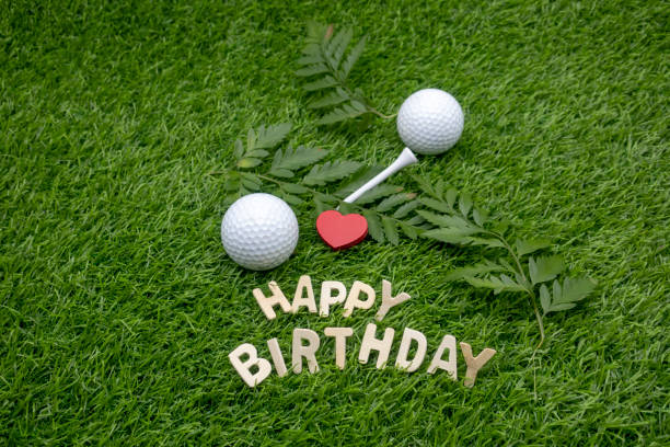 Happy Birthday To Golfer Stock Photo