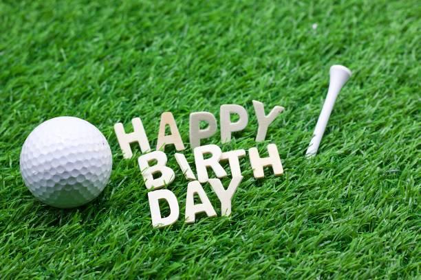 Happy Birthday To Golfer Stock Photo