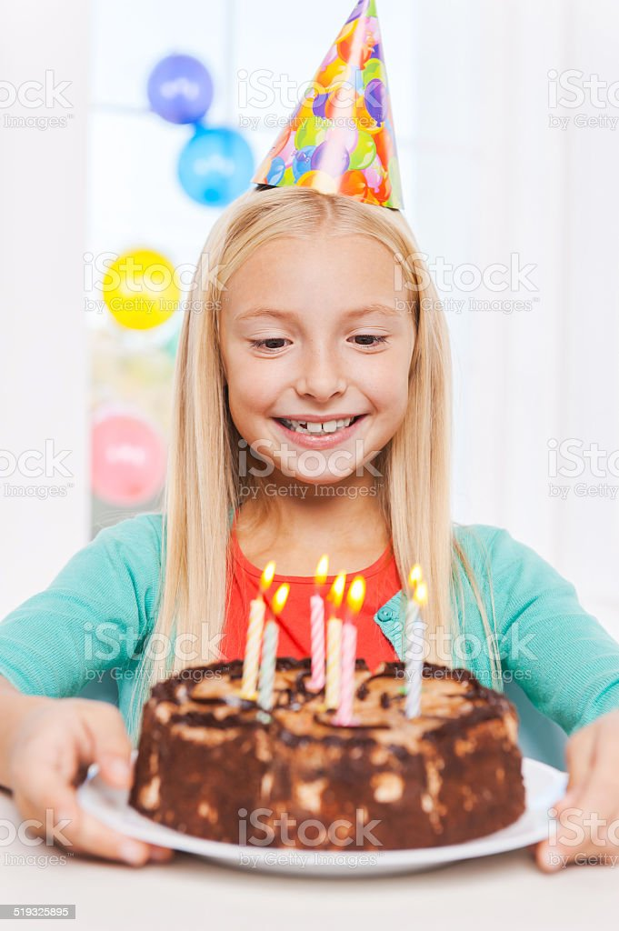 Happy birthday to me! stock photo