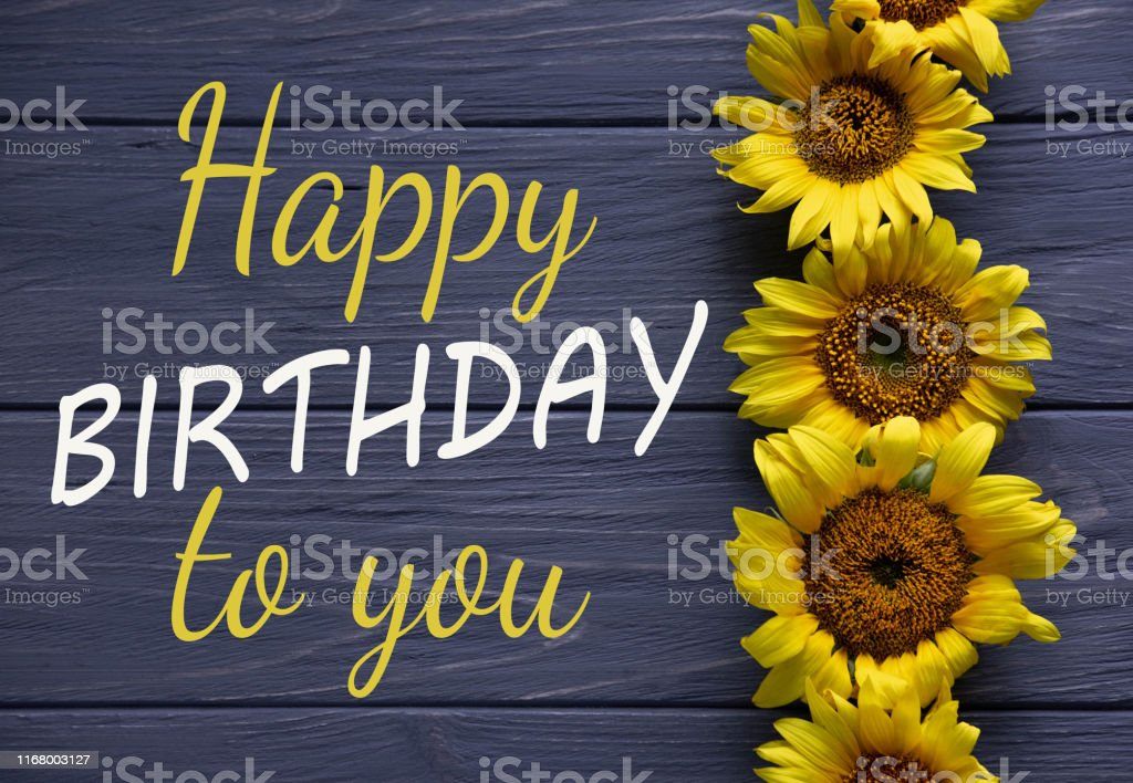 """/""""happy birthday to you/"""" flowers Card"""