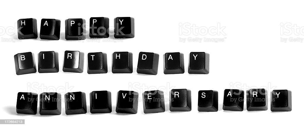Happy Birthday/Anniversary royalty-free stock photo