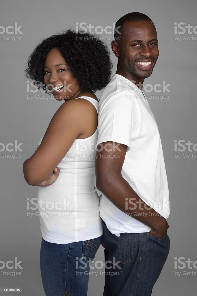Happy Black Couple royalty-free stock photo