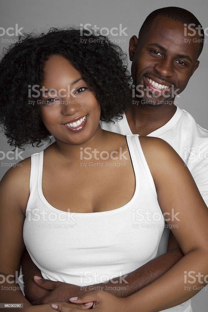 Happy Black Couple royalty-free stock photo