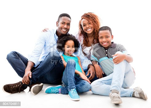 1126155137 istock photo Happy black family 504704811