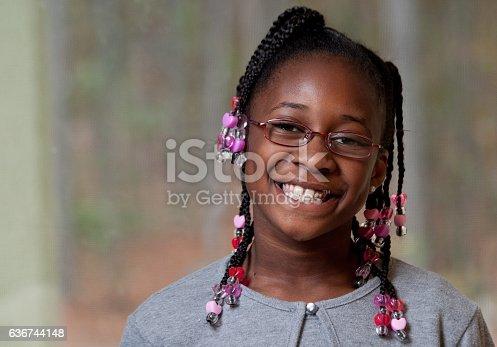 istock Happy Black girl 636744148