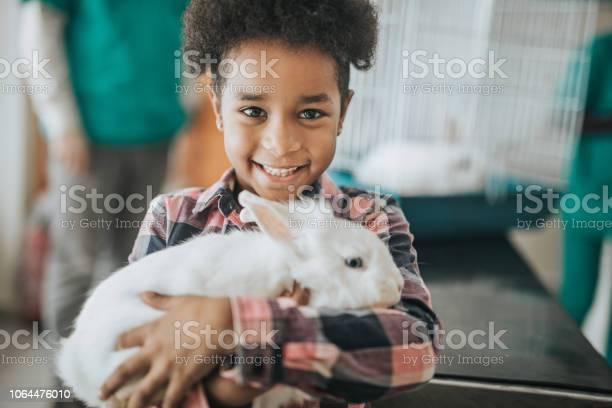 Happy black girl with her rabbit at vets hospital picture id1064476010?b=1&k=6&m=1064476010&s=612x612&h=vamshrq2ezvmjeiafjos5abk 4v3ll wtseauhrq1jg=