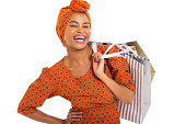 istock happy black woman carrying shopping bags 480929323