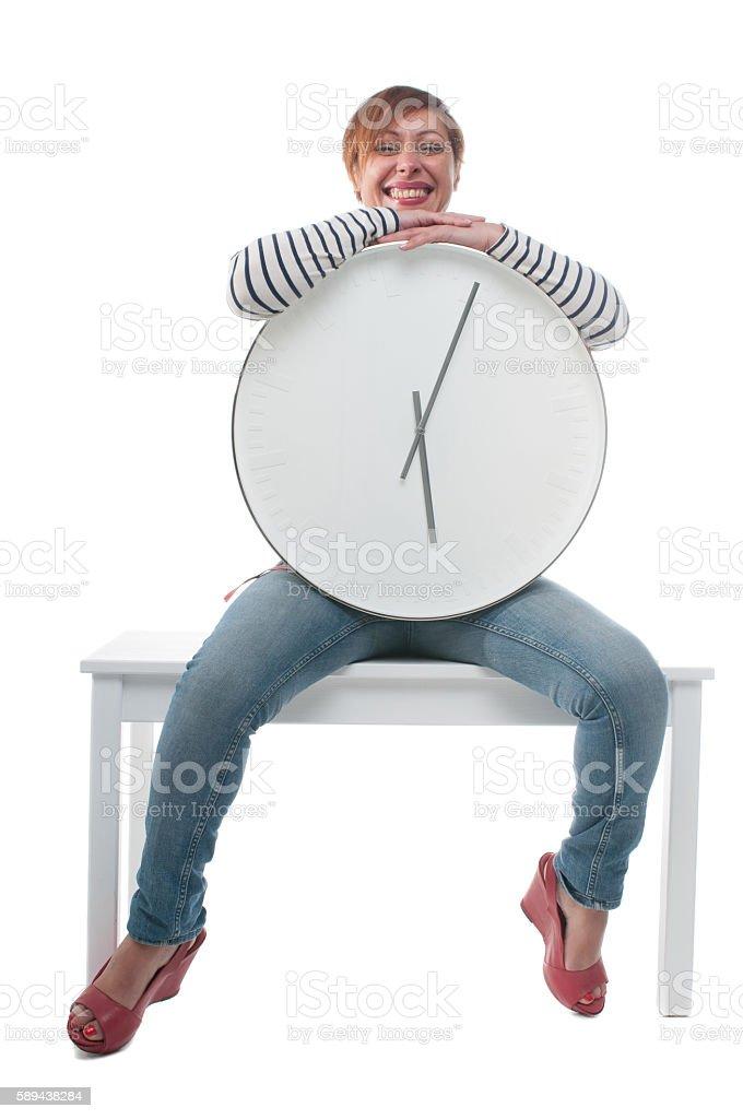 Happy Body Clock stock photo