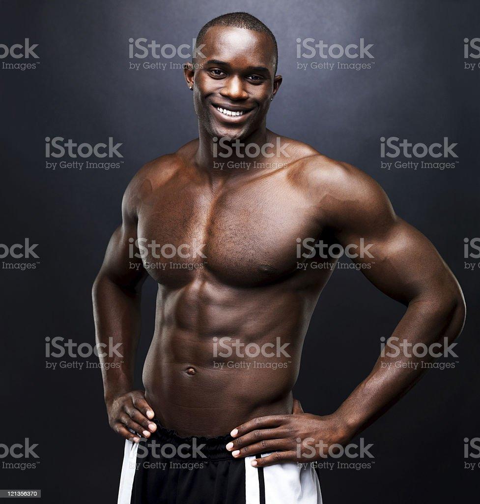 Happy bodybuilder royalty-free stock photo