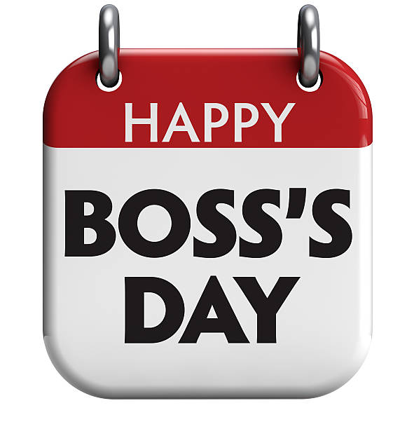 Happy Boss's Day Boss's Day isolated calendar icon. boss's day stock pictures, royalty-free photos & images