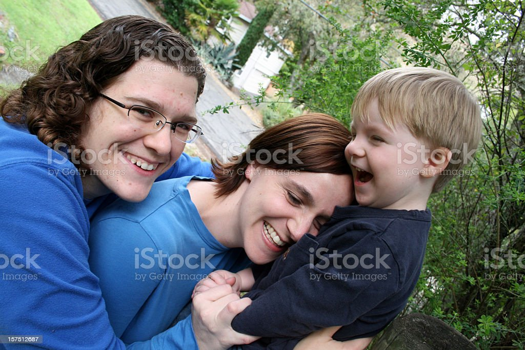 Happy boy and his Moms royalty-free stock photo