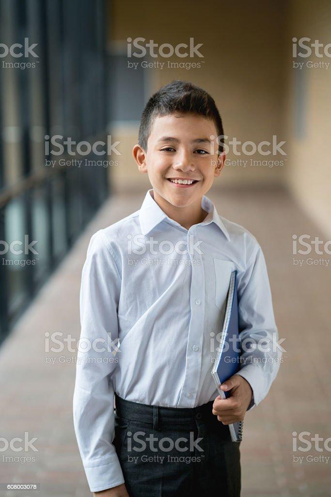 Happy boy at school – Foto