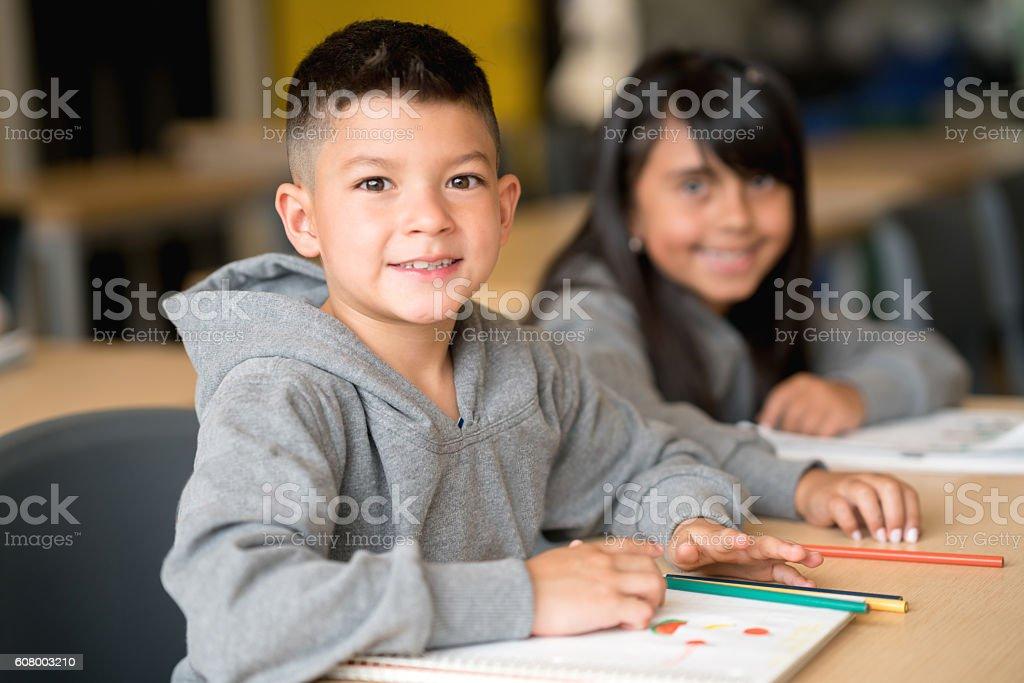 Happy boy at the school – Foto