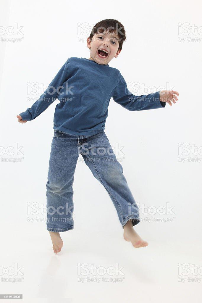Happy Boy Jumping royalty-free stock photo
