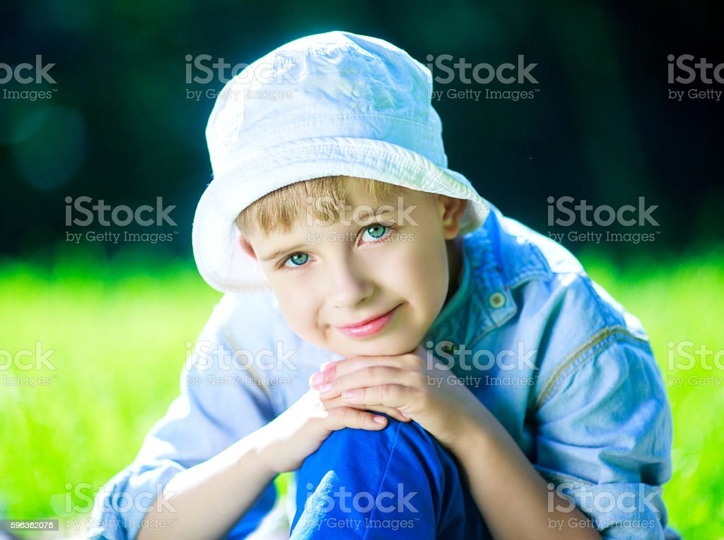 happy boy outdoor royalty-free stock photo