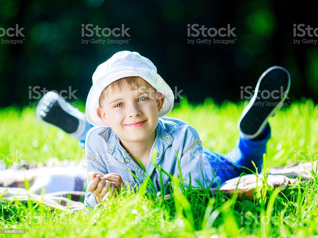 happy boy outdoor royalty-free stock photo