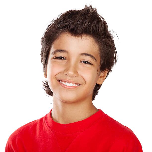garçon heureux portrait - jeunes arabes photos et images de collection