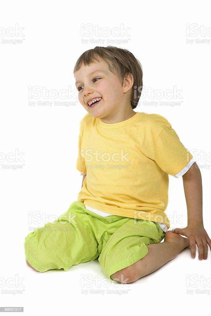 Happy Boy Sitting royalty-free stock photo