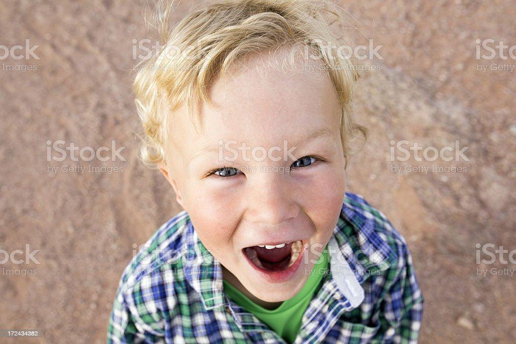 Happy boy surprised. royalty-free stock photo