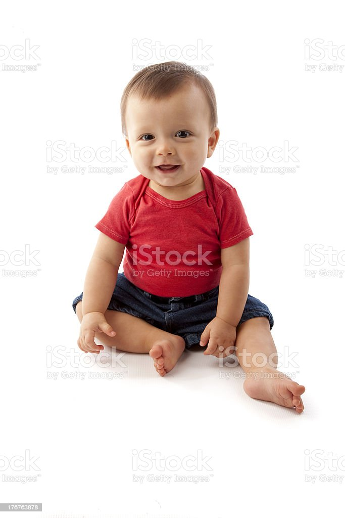 Happy Boy with a Big Smile stock photo