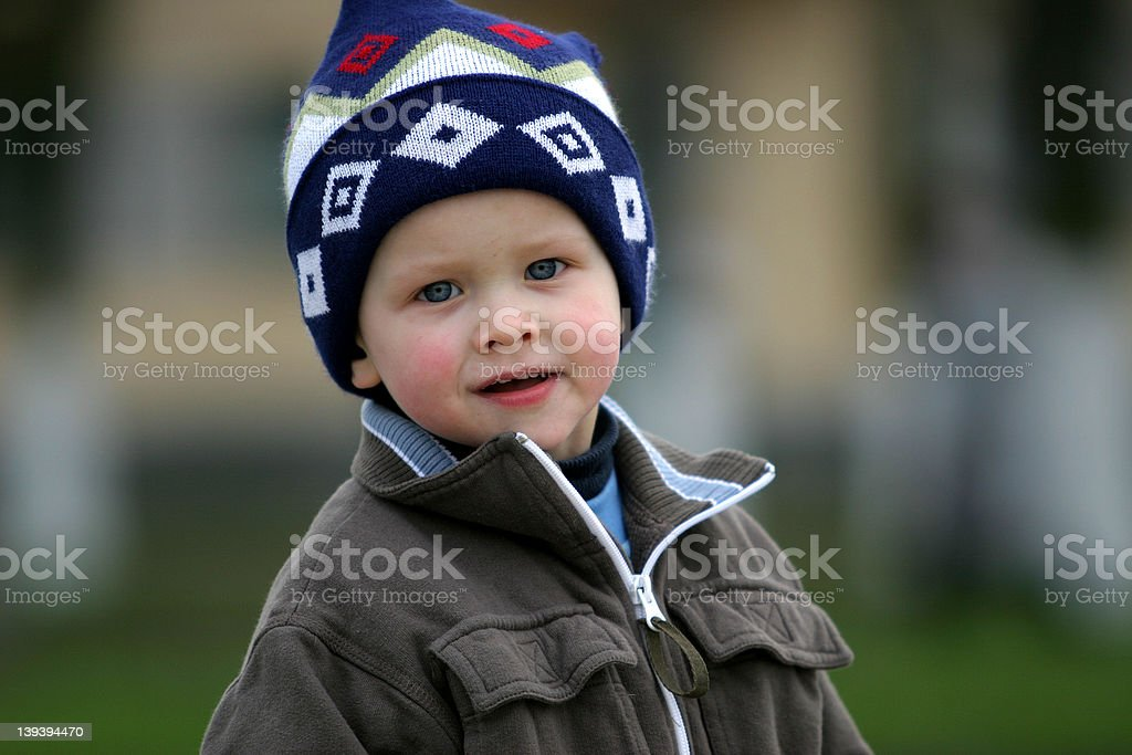 Happy boy with blue eyes royalty-free stock photo